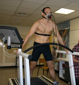 2011 - getting ready for a VO2max test for a Comrades Study of SSISA
