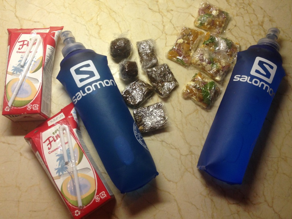50 km training run food supply