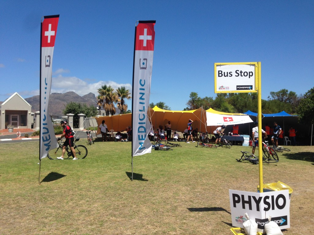 Busy physio and massage tents