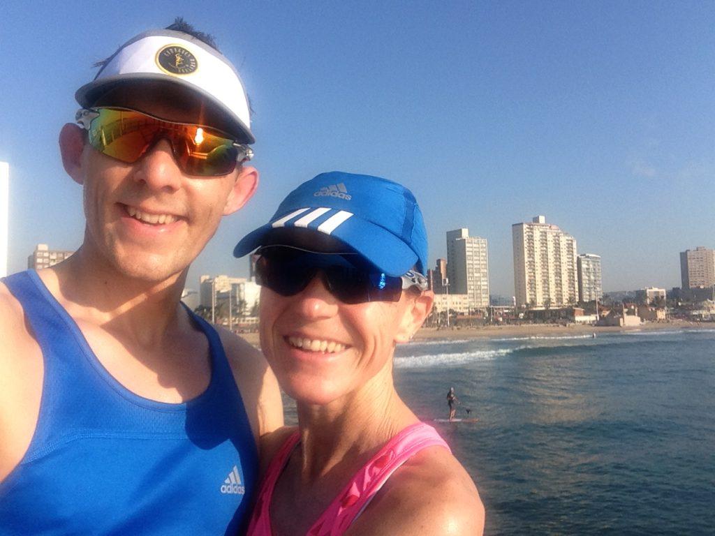 Morning run at Durban North Beach one day before Comrades 2016