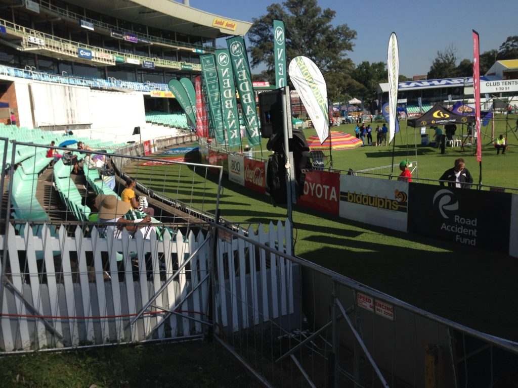 I have never seen the Comrades Marathon finish this quiet :) If course, it's before any runner has finished