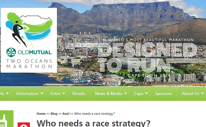 Who needs a race strategy – my blog post on the Two Oceans Marathon Blog