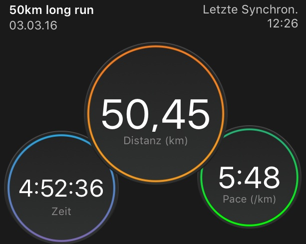 Sleep-running – 50 km training session – 03.03.2016