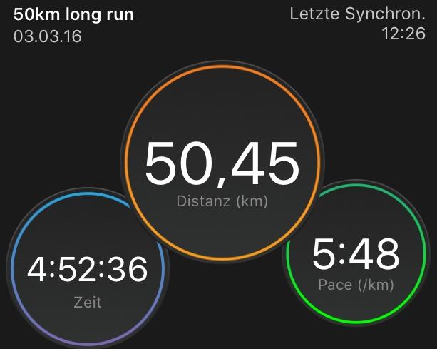 Sleep-running – 50 km training session – 03.03.2016