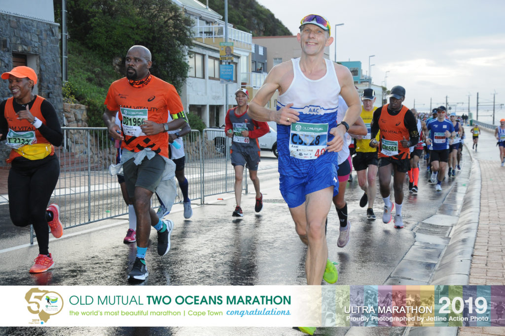 Axel running the 2019 Two Oceans Ultra Marathon