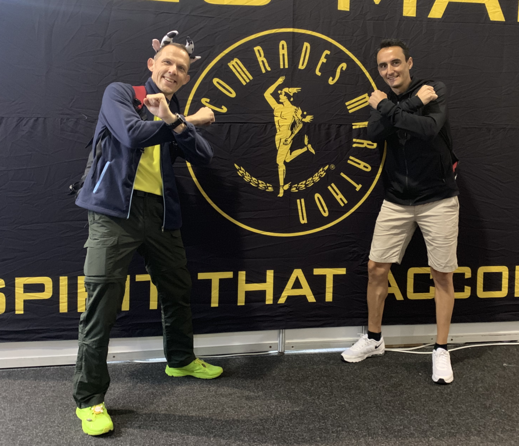Gert and Axel at 2019 Comrades Expo