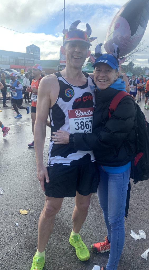My wife Silke and Axel on the route of the 2019 Comrades