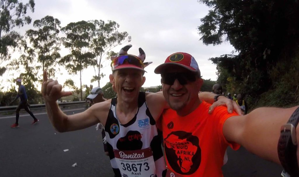The usual picture: Axel and Marco at Comrades 2019